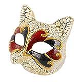 adse 2 pezzi maschera per gatti maschere mascherate per bambini costume di halloween puntelli maschera pallone per feste decorazione da parete per bambini ragazze ragazzi bambini