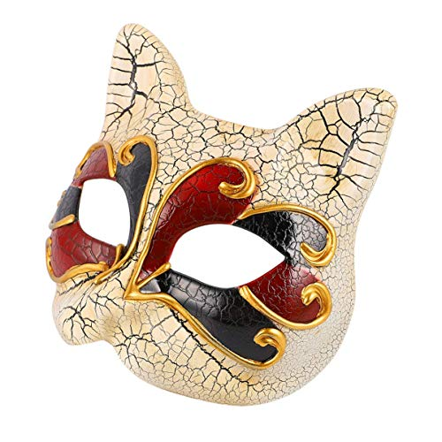 ADSE 2 pcs Cat Mask Kids Masquerade Masks Halloween Costume Props Mask Party Ball Prom Wall Decoration for Kids Girls Boys Children