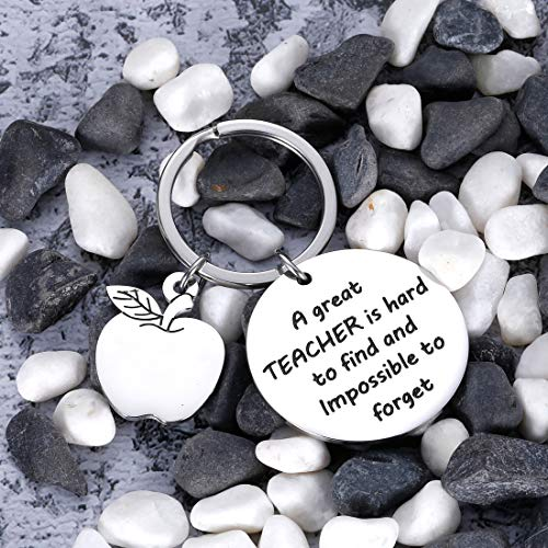 Teacher Appreciation Keychain Gifts for Women Men - Teacher Keychain Teacher Jewelry Teacher Gifts,Thank You Gifts Christmas Birthday Graduation Gifts for Teacher Valentine's Day Photo #3