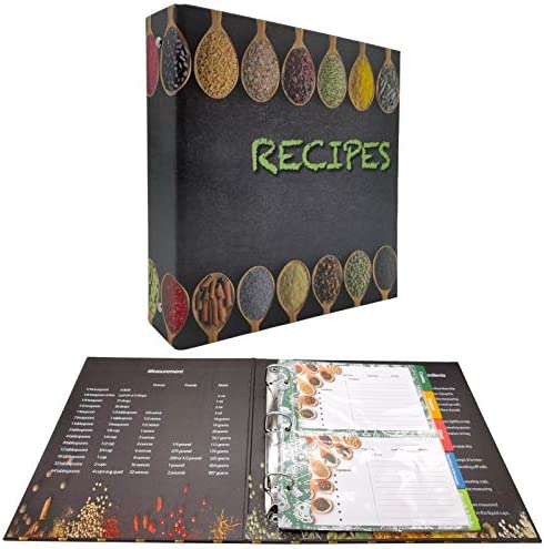 rnairni Recipes Book Binder Set A5 Page Size Recipe Organizer Binder 30 Recipe Cards 10 Dividers product image