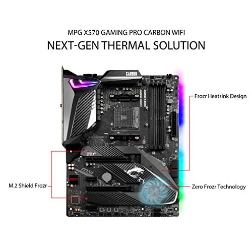 MSI MPG X570 GAMING PRO CARBON WIFI AMD AM4 DDR4 CF M.2 USB 3.2 Gen 2 Wi-Fi 6 HDMI ATX Scheda Madre Gaming