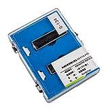 Tansoole 2 pcs 1.0ml 12.5×12.5×45 Cellule de Colorimétrieen Verre pour Spectrophotomètre avec Mur Noir et Couvercle, Chemin Optique: 3mm