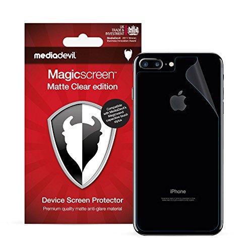 MediaDevil Pellicola Protettiva Posteriore per iPhone 8 Plus e iPhone 7 Plus : Matte Clear (Opaca, Anti-Riflesso) - (2-Pezzi)