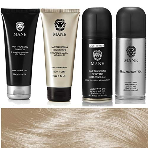 Mane Hair Thickener 100 ml Travel Pack (Light Brown/Marron Clair)