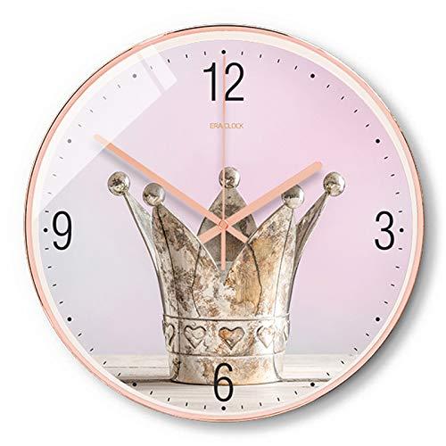 KCOLC Wanduhr Digital Büro Uhr Rosa Damen Wanduhr Einfache Uhren Wohnzimmer Schlafzimmer Wanddekoration Uhr 12 Zoll
