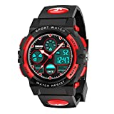 Dreamingbox Boys Girls Birthday Presents Gifts Age 5-12, LED 50M Waterproof Digital Sport Watches for Kids Cool Toys for 5-12 Year Old Boys Girls Gifts for 5-12 Year Olds Halloween Xmas Gifts for Kids