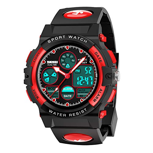 Dreamingbox Boys Girls Birthday Presents Gifts Age 5-12, LED 50M Waterproof Digital Sport Watches for Kids Cool Toys for 5-12 Year Old Boys Girls Gifts for 5-12 Year Olds Easter Gifts for Kids