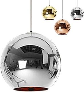 Industrialna nowoczesna lustrzana szklana kula wisząca lampa, regulowana lustrzana kula wisząca lampa, klosz lampy sufitow...