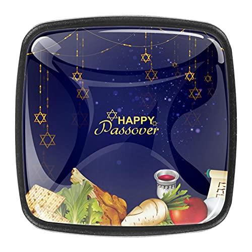 4 st skåphandtag dörr byrå låda köksskåp knoppar glad påskmat kristallglas