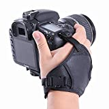 Movo Photo HSG-2 DualStrapgepolstertes Arm- und Griffband für DSLR-Kameras–verhindert Fallenlassen und stabilisiert das Video