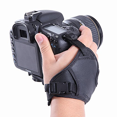 Movo HSG-2 DualStrap Padded Wrist and Grip Camera Strap for DSLR Cameras Including Canon, Nikon, Sony, Olympus, SLRs - Prevent Accidental Drops - Perfect for Camera Stability and Control