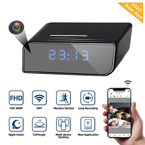 Spy camera Wireless Hidden Spy Clock Camera Monkaim Mini HD 1080P WiFi Smart...