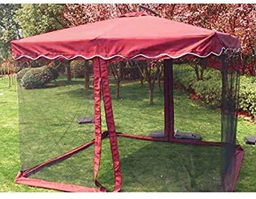 WENYAO Sombrillas de jardín Sombrilla Mosquitera Paraguas Invasión antimosquitos Adecuado para Exterior, Patio Sombrilla Mosquitera (Color: Vino Tinto, Tamaño: Espesar)