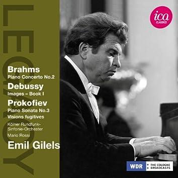 Brahms: Piano Concerto No. 2 - Debussy: Images, Book 1 - Prokofiev: Piano Sonata No. 3 - Visions fugitives