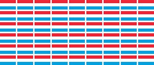 Mini Aufkleber Set - Pack glatt - 20x12mm - Sticker - Luxemburg - Flagge - Banner - Standarte fürs Auto, Büro, zu Hause & die Schule - 54 Stück