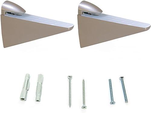 Element System Selecta Lot de 2 supports en verre et bois pour /étag/ère murale 11053-00000