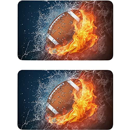 Vnurnrn Imán para lavaplatos de fútbol en el fuego, con luz de agua, imán para nevera, placa magnética, placa decorativa para cocina, oficina, lavavajillas, indicador de lavadora de platos, 2 unidades