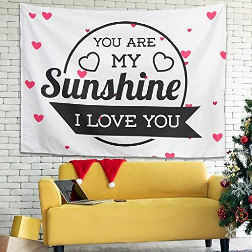 XunYun Tapiz multifuncional para el día de San Valentín con arte de la fuente de arte de picnic, colcha con arte de pared para sala de estar o dormitorio, color blanco 231 x 149 cm
