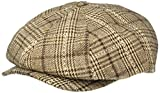 Brixton Men's Brood Newsboy SNAP HAT, Taupe/Brown, L