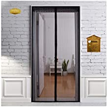 Heeku Magnetic Screen Door Top to Bottom Ultra Seal Magnets Shut Automatically and Keep Fresh Air in & Bugs Out Fits Door Size 36