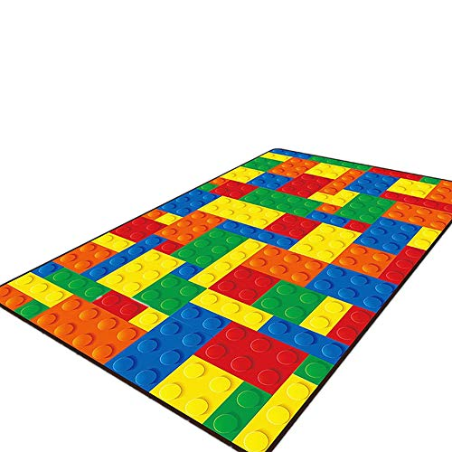 USTIDE 5'x7' Colorful Puzzle Educational Kids Rug Activity Children Playroom Classroom Area Rug