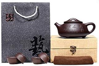 Purple Clay Teapot Tea Set Handmade Kung Fu Teapot Home Office Stone Scoop Teapot Set-C-1
