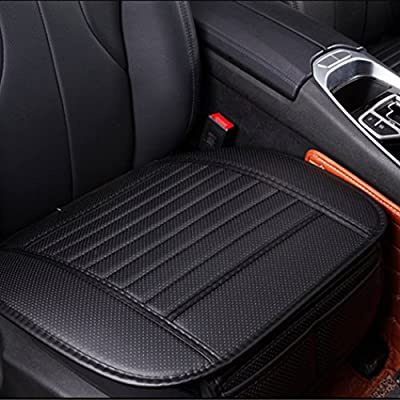 2pc Breathable Car Interior Seat Cover Cushion Pad Mat for Auto Supplies Office Chair with PU Leather