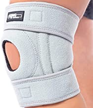 Patella Knee Brace for Arthritis Pain and Support with Side Stabilizers for Meniscus Tear, Women, Men, Acl, Running, Mcl, Tendonitis, Athletic, Lcl - Adjustable Neoprene Open Knee Sleeve -Grey