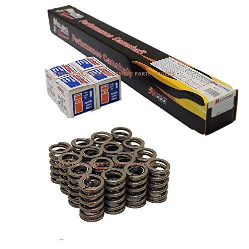 Chevy SB 283 305 327 350 400 HYD flat tappet Street/Strip Cam & Lifters Kit w/springs .444'/.466' Lift