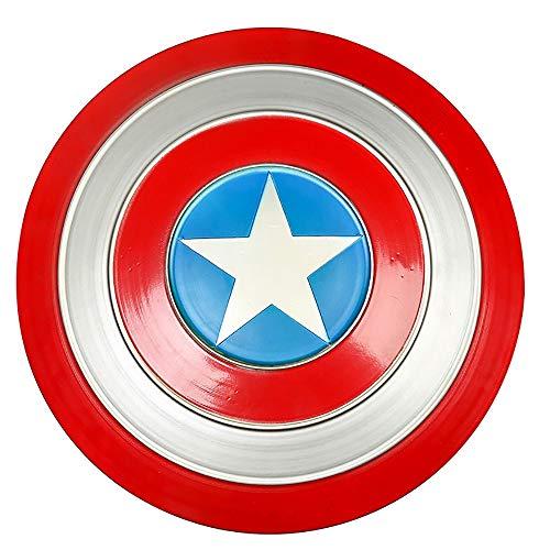 47cm Escudo Capitan America Metal 1: 1 Adulto Apoyos De PelCula NiOs Hierro Forjado CapitN AmRica Shield Vengadores Retro Creative Shield Bar DecoraciN