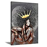 African American Black Queen Poster, Pot Head Music Notes Poster, Black Melanin Poster, Black Pride, Black Lives Matter, Black History Month, No Frame 16X24inch