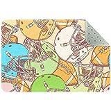 Bennigiry Alfombra de área con patrón de pelota de fútbol americano y alfombra de entrada para sala de estar, dormitorio, sala de juegos, 61 x 40 cm