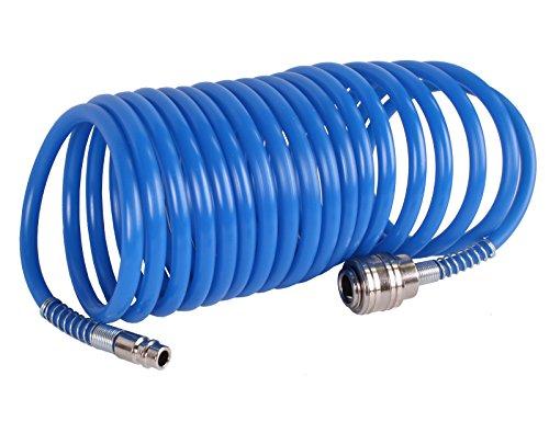 WELDINGER Druckluft-Spiralschlauch 5 m mit Schnellkupplung