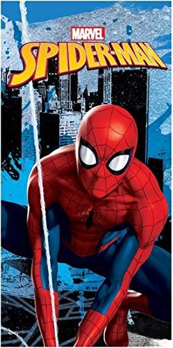 Carbotex Marvel´s Spiderman Handtuch 70x140 cm Baumwolle Strandtuch Badetuch Duschtuch Kinder Comic Fanartikel Spider-Man