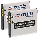 2X Akku Li-50b für Olympus SP-720UZ SP-800UZ VH-510 VR-340 VR-350 VR-360 XZ-1.weitere, Siehe Liste