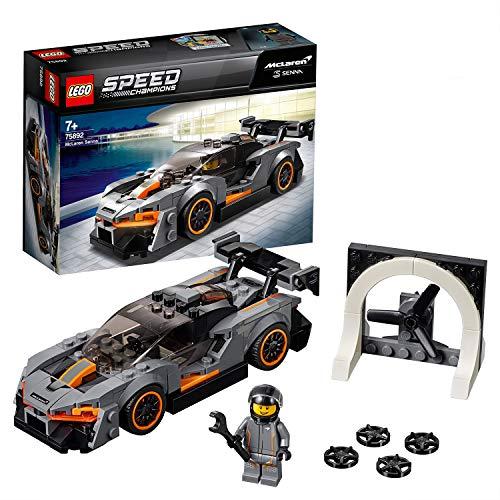 LEGO 75892 SpeedChampions McLarenSenna Coche de Carreras para Construir con Mini Figura de Piloto para Niños a Partir de 7 años