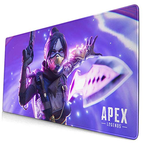COCCKO Apex-Legends Leather Mouse Pad Gaming Mouse Pad Non-Slip Pu Ultra Thin Large Mouse Pad Waterproof Keyboard Mouse Mat Desk Pad for Work Game Office15.8x29.5in