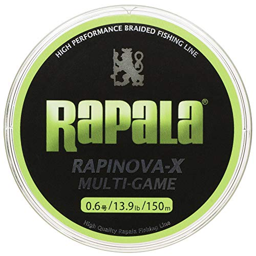 Rapala(ラパラ)PEラインラピノヴァXマルチゲーム150m0.6号13.9lb4本編みライムグリーンRLX150M06LG