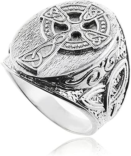 Silver Celtic Cross Trinity Knot Ring (12)