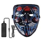 Unbekannt Halloween LED Scary Mask Cosplay Kostüm Leuchten Purge Mask EL Drahtmaske für Festival Party