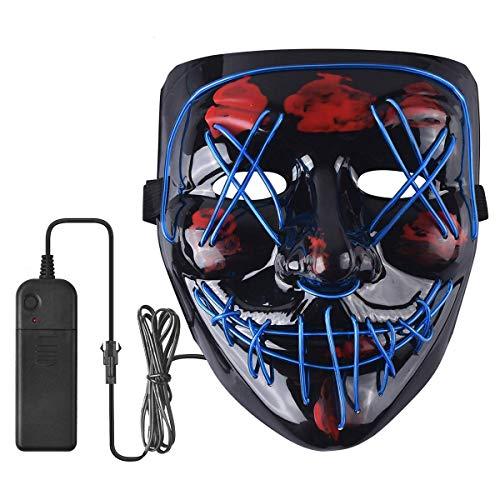 Halloween LED Scary Mask Cosplay Costume...