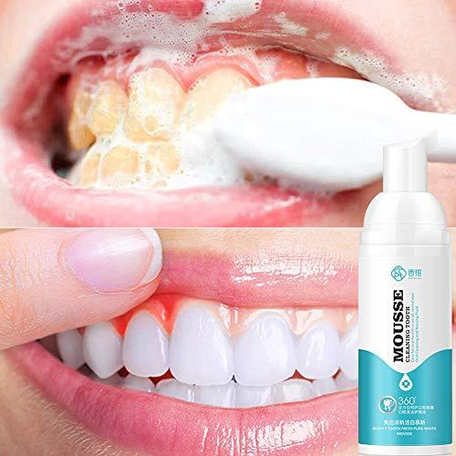 BOBORA Schaum Zahnpasta Zahnflecken entfernen Mundreinigung Zahnaufhellung Schaum Zahncreme Schaumblasen Zähne aufhellen & Plaque bekämpfen Schaum Tiefenreinigung Zahnpasta Flüssigkeit