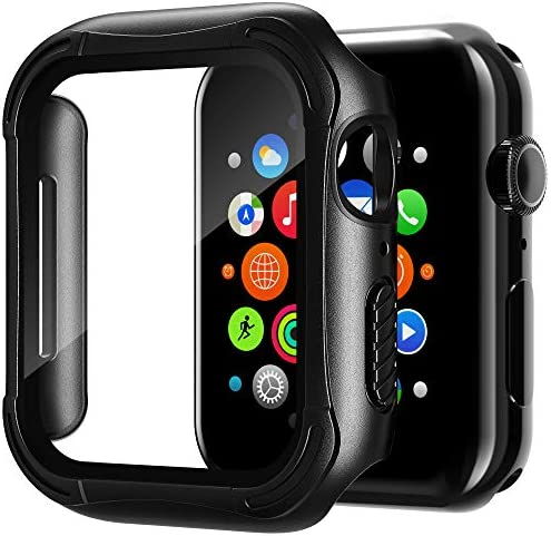 Habyby Watch Case With HD Glass Screen Protector Compatible with Apple Watch Series 6 5 4 SE product image