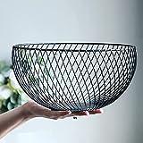 NORHOR Cesta de frutas, verduras de frutas, huevo, soporte de almacenamiento para encimera de cocina, diseño de alambre de acero inoxidable.