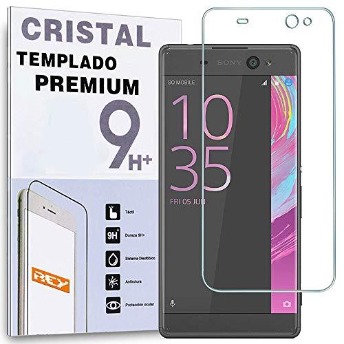 REY Protector de Pantalla para Sony Xperia XA Ultra, Cristal Vidrio Templado Premium
