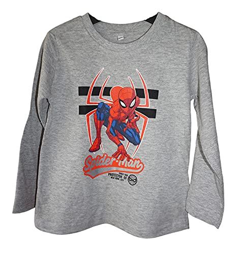 Spiderman - Camiseta de manga larga para niño, multicolor, 110 c