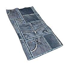 Azul Denim Patchwork Patrón Microfibra Cara Toalla Super Absorbente Pequeña Toalla De Baño Gimnasio Hotel Spa Deportes Piscina Toalla Playa 15.7 'x 27.5'