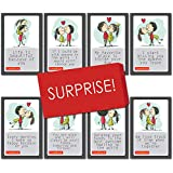 Cute & Romantic set of LOVE CARDS with heartfelt emotional and loving messages For girlfriend, boyfriend, wife, husband or partner & sweetheart, a great way to express your love Set of 8 cards, ideal for both HIM and HER ROMANTIC GIFT: These love mes...