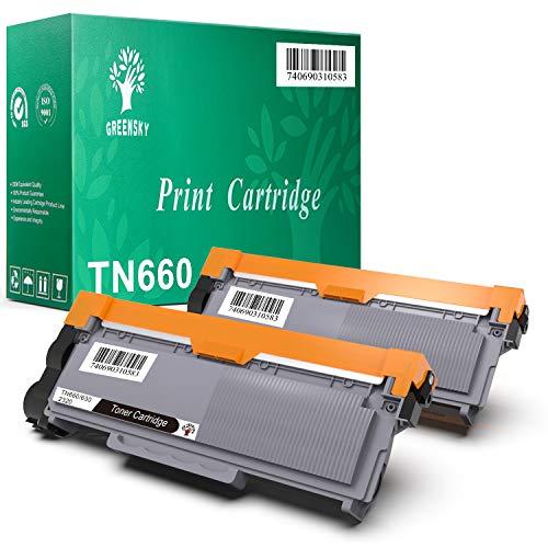 GREENSKY 2 Paquetes Cartucho de tóner compartible de reemplazo para Brother TN2320 TN2310 TN 2320 TN 2310 para Brother HL-L2300D HL-L2320D HL-L2340DW HL-L2360DN HL-L2360DW HL-L2365DW HL-L2380DW