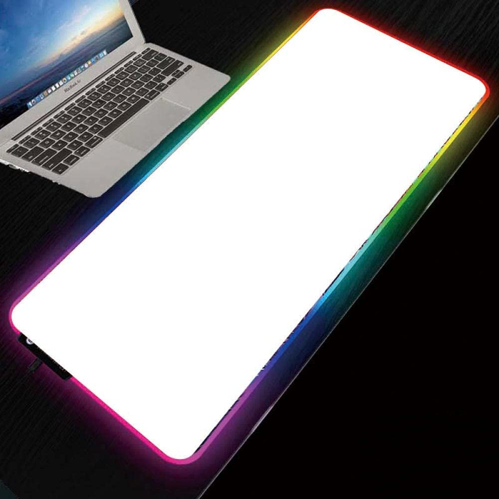 Mouse Pads Solid Manufacturer direct delivery Industry No. 1 Color All White Glowin Gaming LED Pad RGB